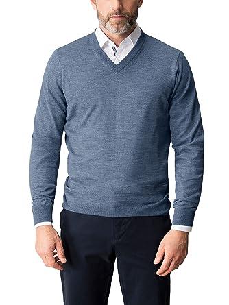 Walbusch Herren Merino-Mix V-Pullover einfarbig  Walbusch  Amazon.de   Bekleidung 651fb1da8c