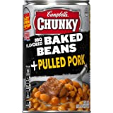 Campbell's Chunky Baked Beans, BBQ Flavored + Pulled Pork, 20.5 Ounce (Pack of 12) (Packaging May Vary)