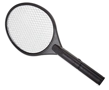 Zap Master The Original Electric Hand Held Racket Bug Zapper (Black)