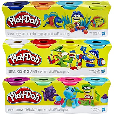 Play-Doh HASB5517BAMZ 4-Pack of Colors Gift Set Bundle (12 Cans-48 Oz): Toys & Games