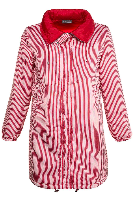 Ulla Popken Women's Plus Size Reversible Stripe Waterproof Jacket Red 12/14 714533 51 by Ulla Popken (Image #5)