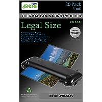 Apache Laminating Pouches, 3 mil, Legal Size, 20 Pack