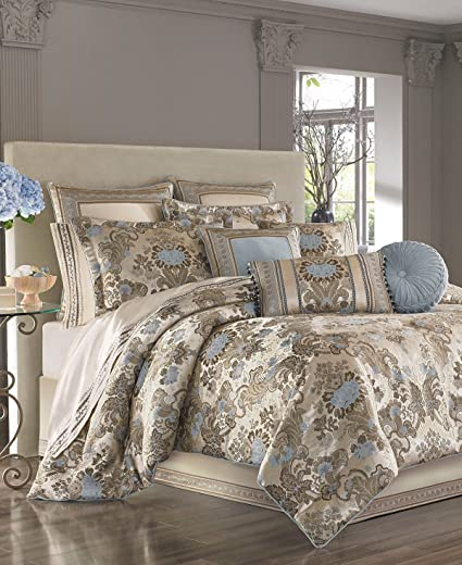 Amazon Com J Queen New York Jordyn Olivia Taupe 4 Piece Queen