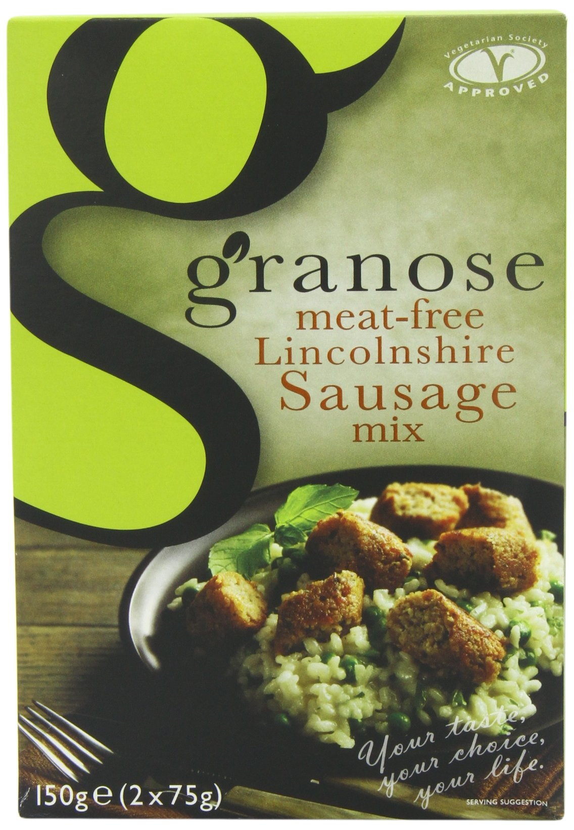 Granose Meat Free Lincolnshire Sausage Mix 150 g (Pack of 6)
