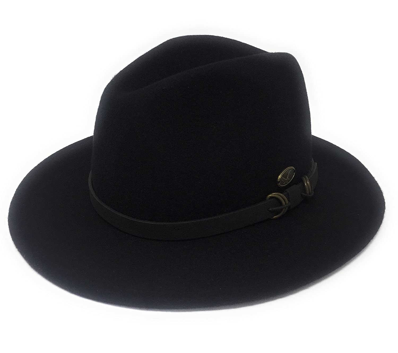 Classic Hunter Outback Style Mens 100/% Felt Wool 7cm Brim Hat