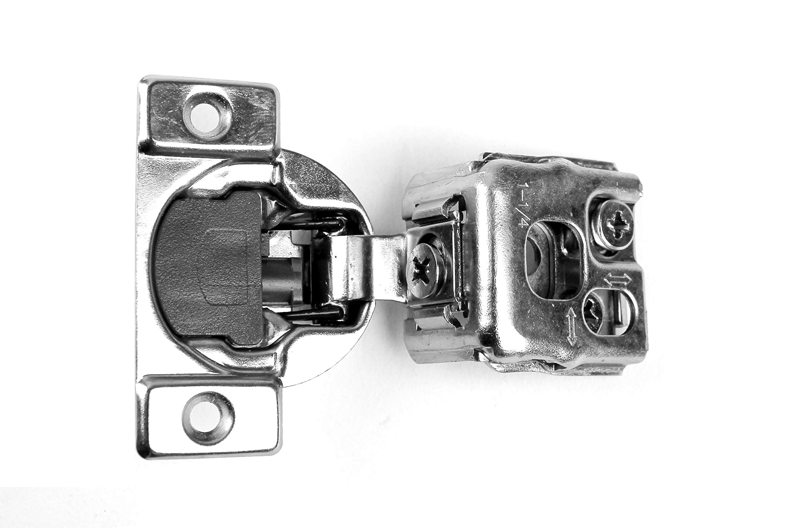 40 Pack Berta 6-Ways 3-cam Adjustment, 1 1/4'' Overlay Cabinet Door Hinges with Built-in Soft Close -105 Degree with Screws