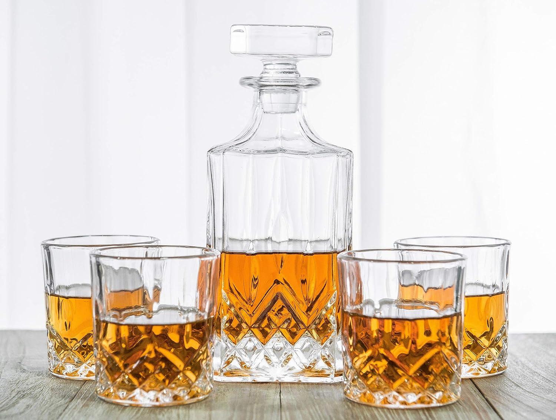 Amazon.com: Juego de decantador de Whisky para Whisky, Vino ...