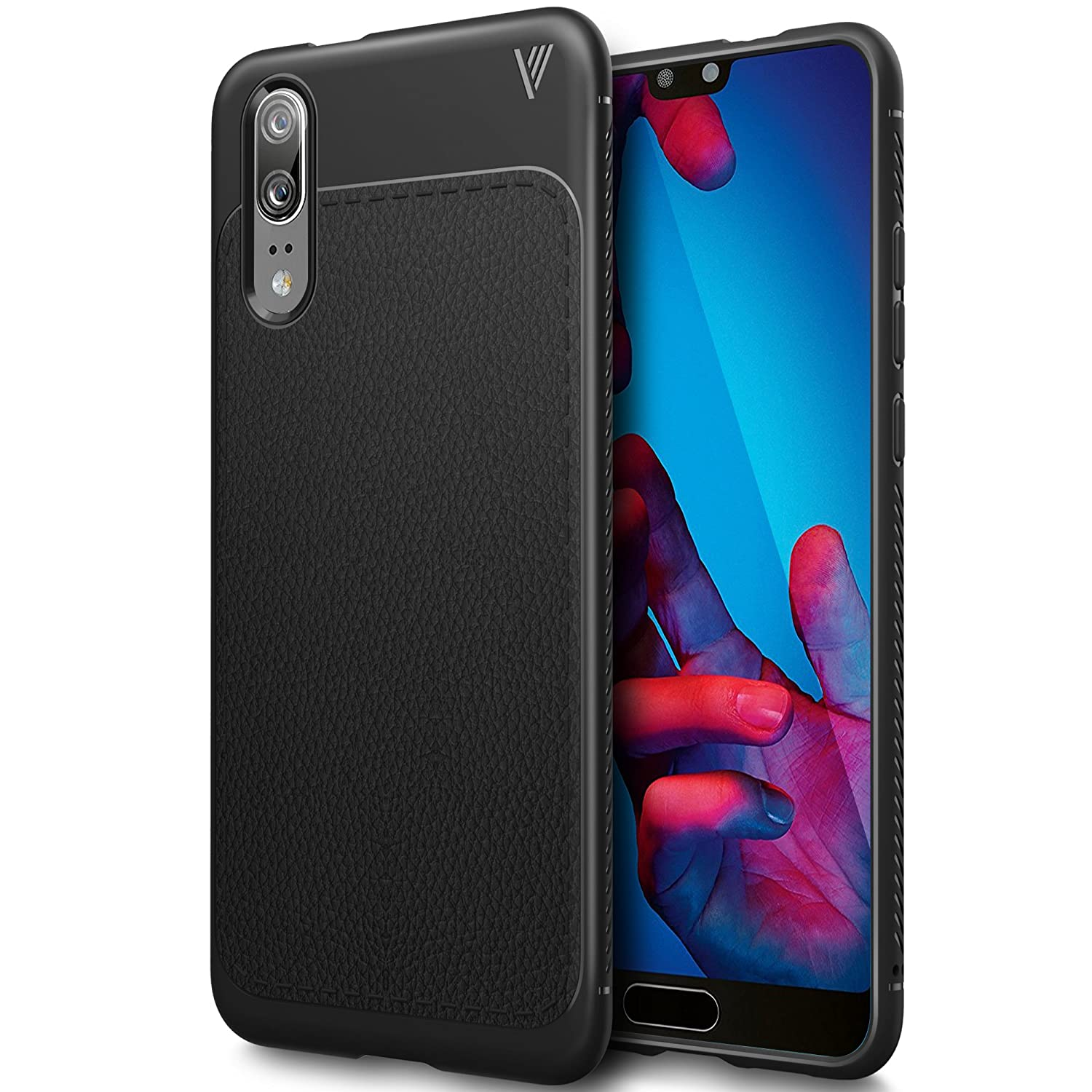 Huawei P20 Case, Huawei P20 Cover, BoseWek Huawei P20 Protective Case, Durable Protection, Exactly the compatibility for the Huawei P20 Smartphone. (Black)