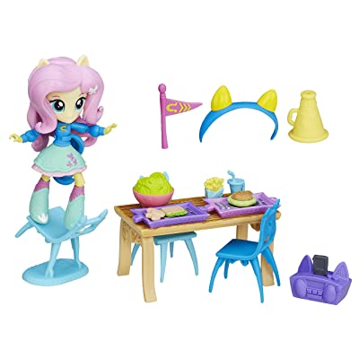 My Little Pony Equestria Girls Minis Fluttershy School Cafeteria Set: Toys & Games