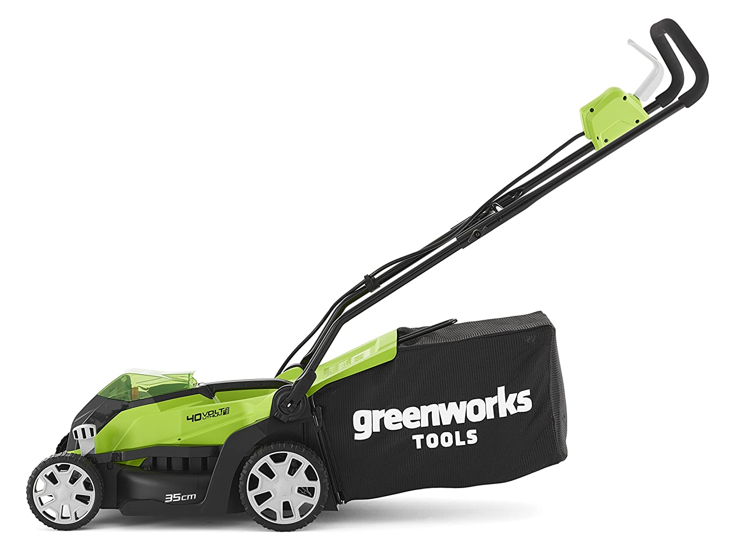 2501907UC Greenworks 40V Cordless Lawn Mower 35cm with 2x 2Ah batteries and chager 14