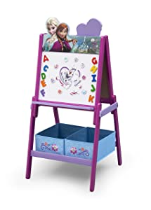 Delta Children Wooden Double Sided Activity Easel with Puzzle, Disney Frozen