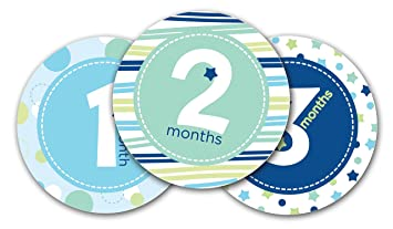 7bb06cbc9f8c Amazon.com   Pearhead First Year Monthly Milestone Photo Sharing Baby Belly  Stickers