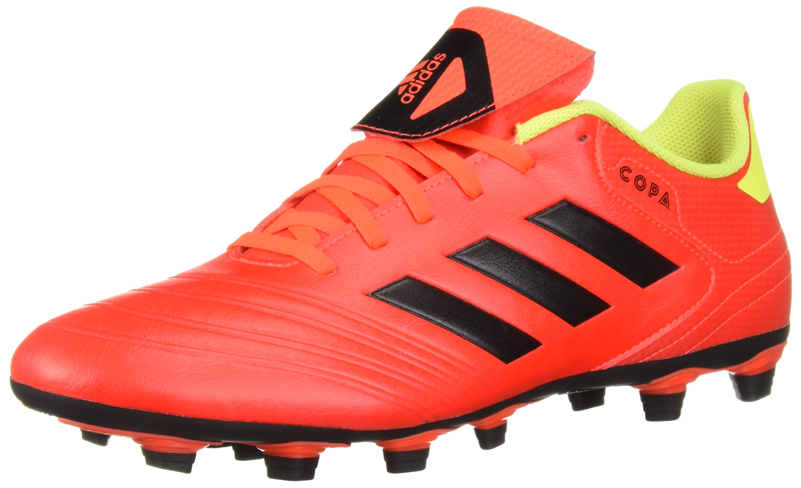 adidas Men's Copa 18.4 Firm Ground Soccer Shoe, Solar Red/Black/Solar Yellow, 12.5 M US