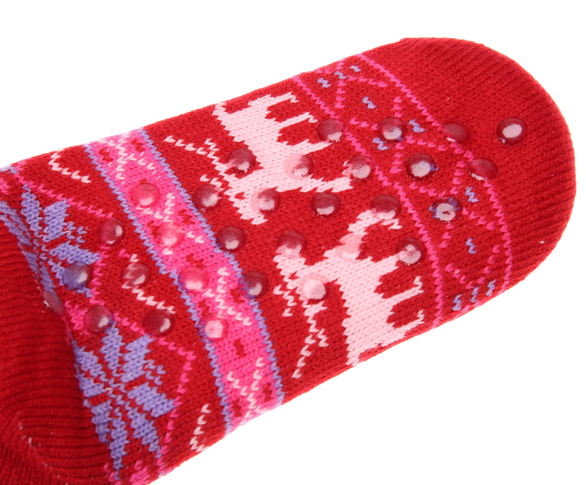 SDBING-Womens-Winter-Super-Soft-Warm-Cozy-Fuzzy-Snowflake-Deer-Fleece-lined-Christmas-Gift-With-Grippers-Slipper-Socks