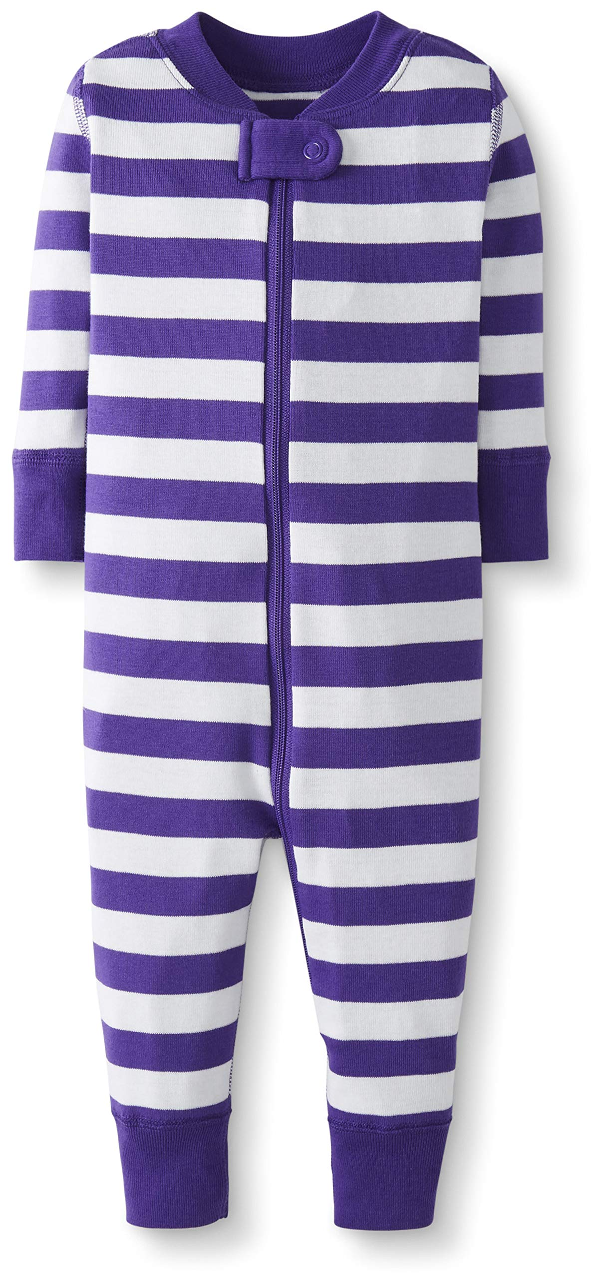 Hanna Andersson Baby/Toddler One-Piece Organic Cotton Footless Pajama Purple Hills/Hanna White-75 by Hanna Andersson