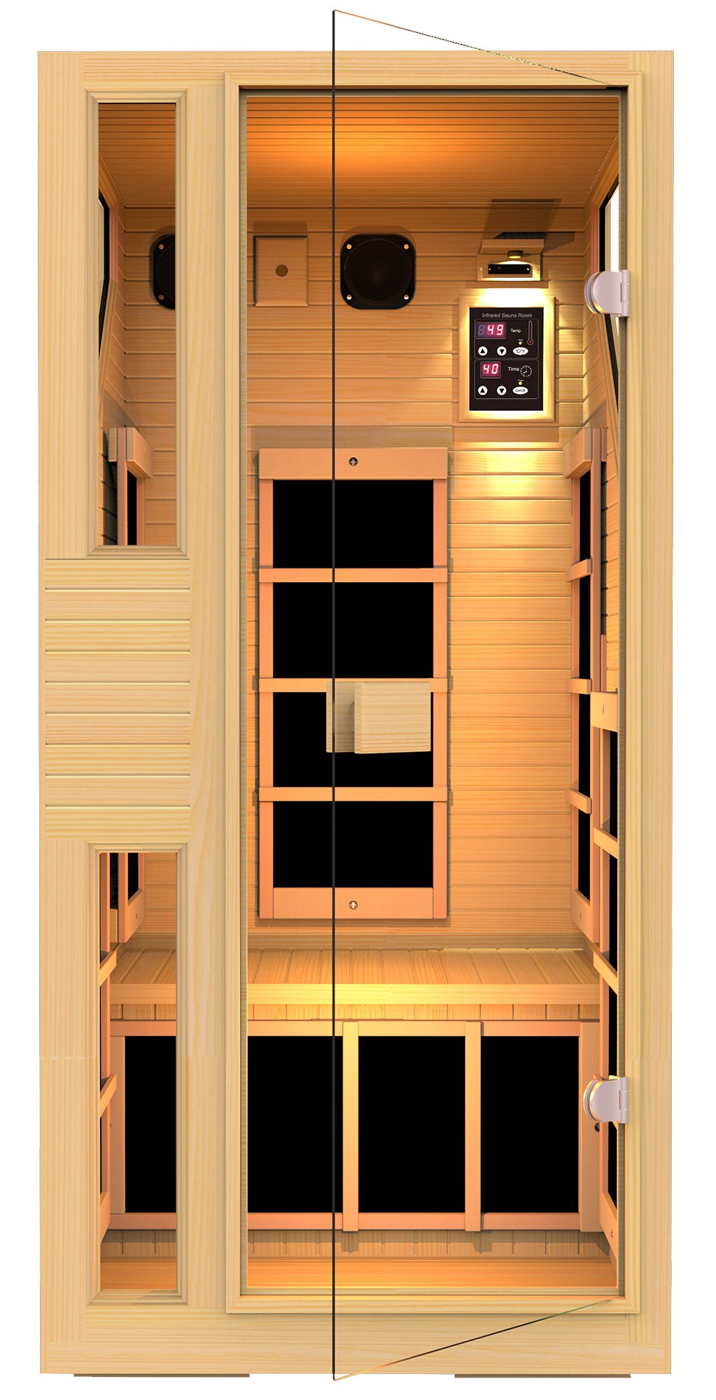 JNH Lifestyles NE1HB1 ENSI Collection 1 Person NO EMF Infrared Sauna Limited by JNH Lifestyles (Image #1)