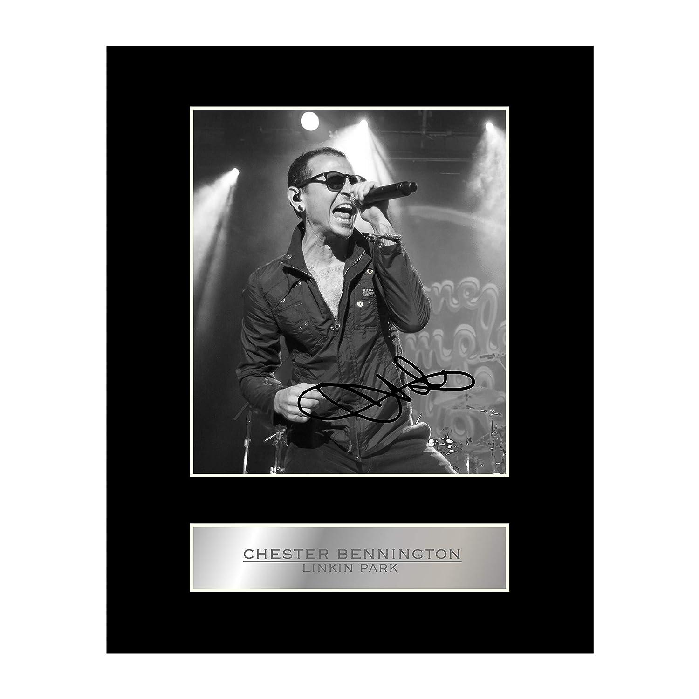 Chester Bennington Photo dédicacée encadrée Linkin Park Iconic pics