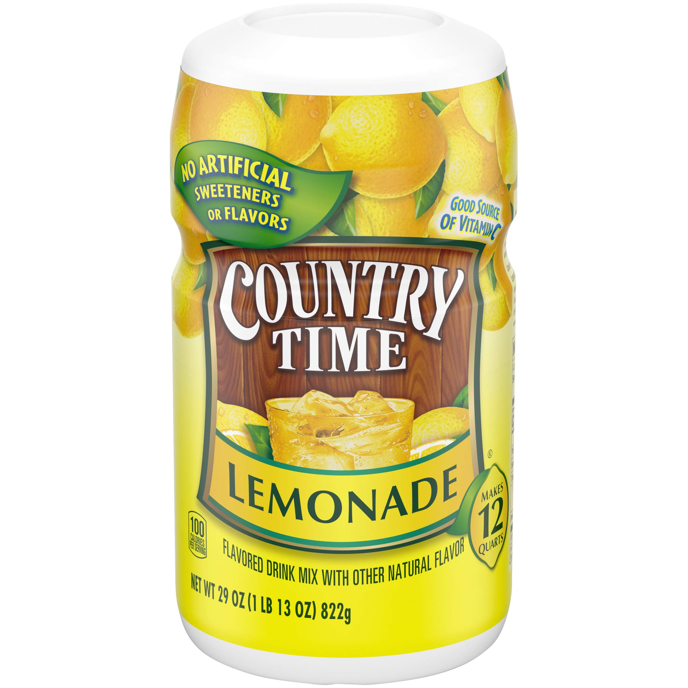 Country Time Lemonade Powdered Drink Mix (29 oz Canisters, Pack of 4)