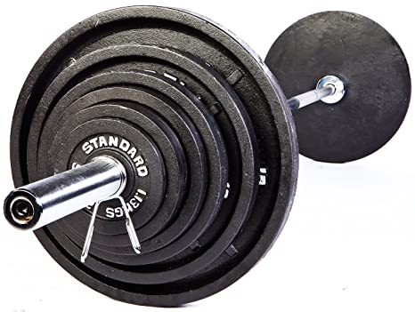 5f8d288a00a Image Unavailable. Image not available for. Color  USA Sports Troy Standard Olympic  Weight Plates Black - 500 LB Set