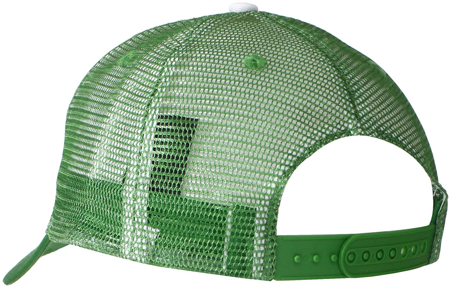 John Deere Embroidered Logo Mesh Back Baseball Hat - One-Size - Mens - White at Amazon Mens Clothing store: John Deer Trucker Hat