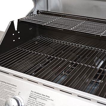 Broil-master - Barbacoa parrilla a gas BBQ con práctica rejilla - calidad certificada por TÜV Rheinland: Amazon.es: Jardín