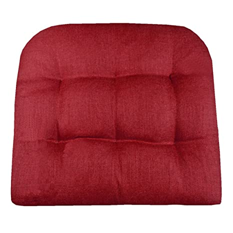 Nice Barnett Products Patio Chair Cushion   Rave Scarlet Red Solid Color   Size  Large   Indoor