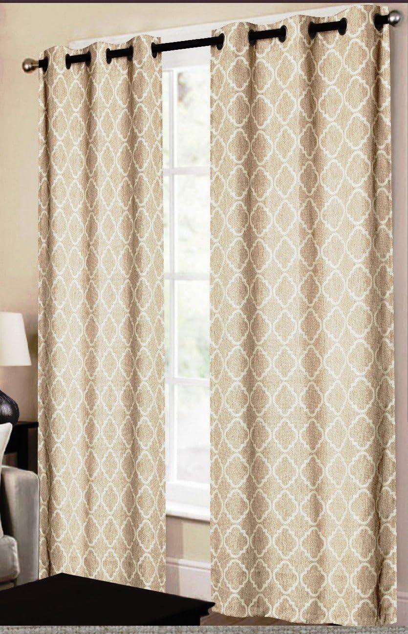 CHD Home Textiles Dagmara Curtain Panel, Taupe