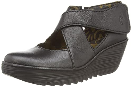 Fly London Yogo - Zapatos de tacón para mujer, Black Mousse, 41 FLY London