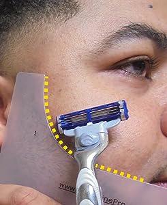 GuideLine Pro Beard Template, Beard Shaping Tool   for Shaping a Perfectly Symmetrical Beard & Moustache - Beard Kit Accessory