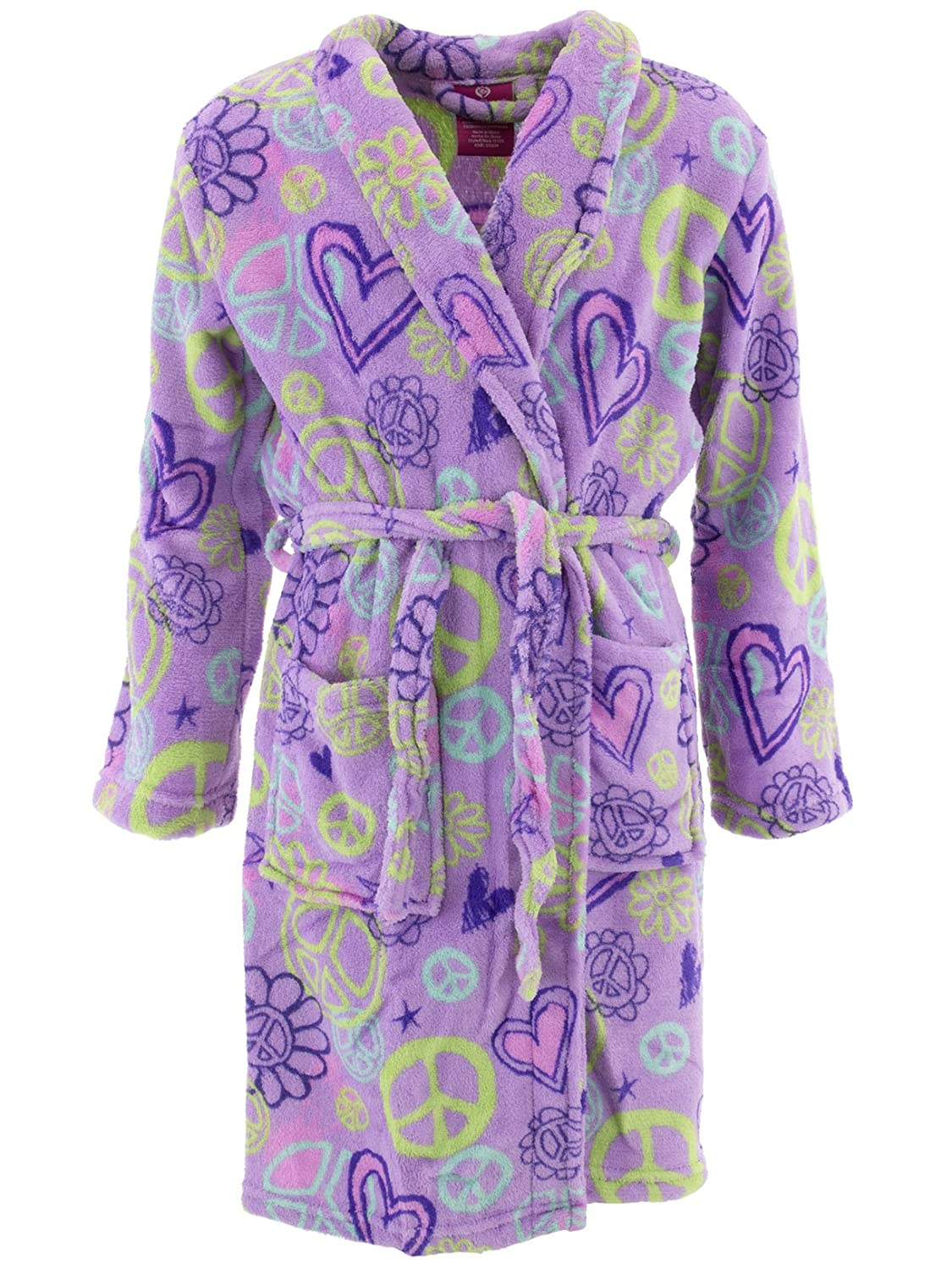 Chili Peppers Girls' Plush Fleece Bath Robe