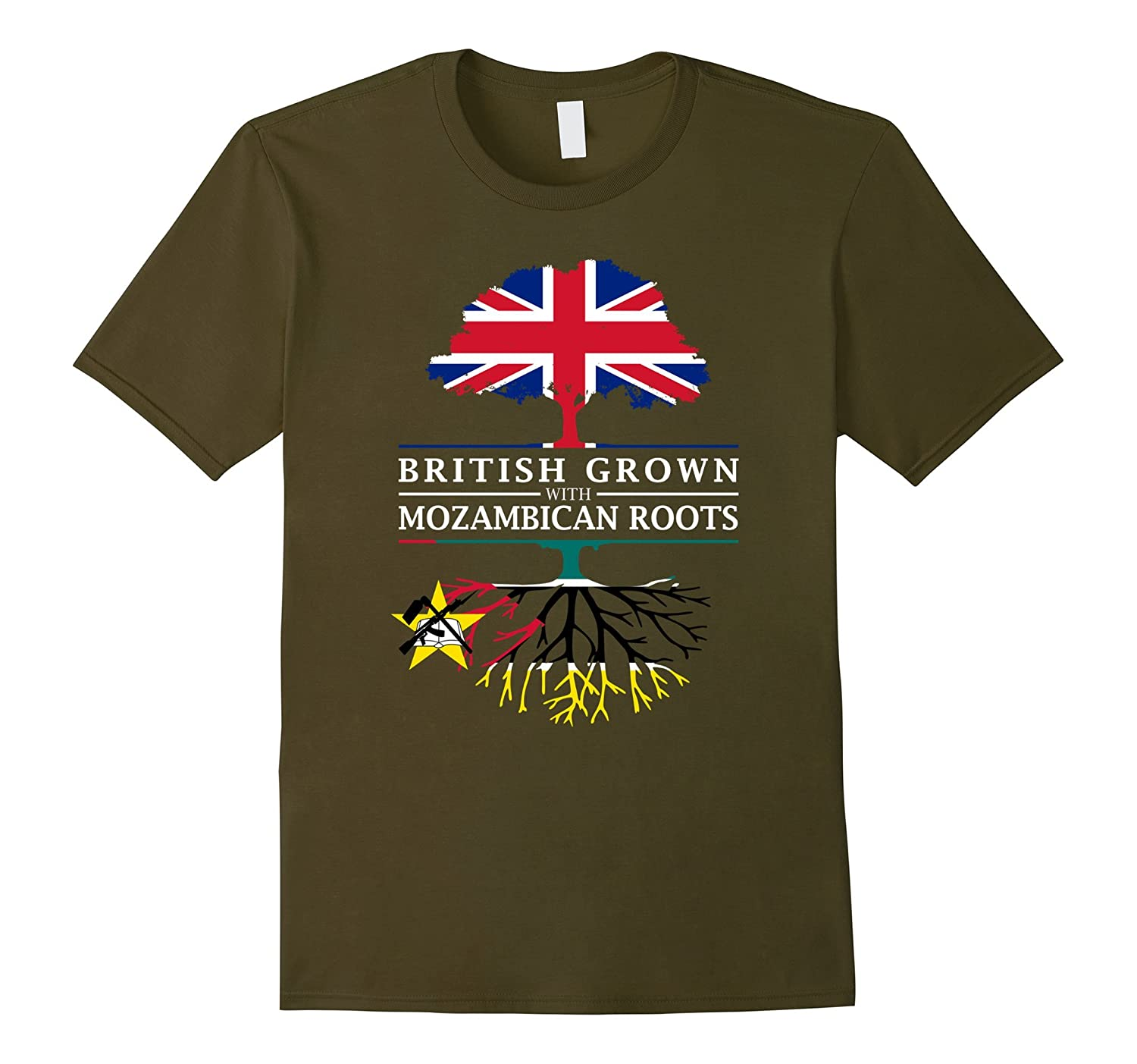 British Grown with Mozambican Roots - Mozambique T-Shirt-CD