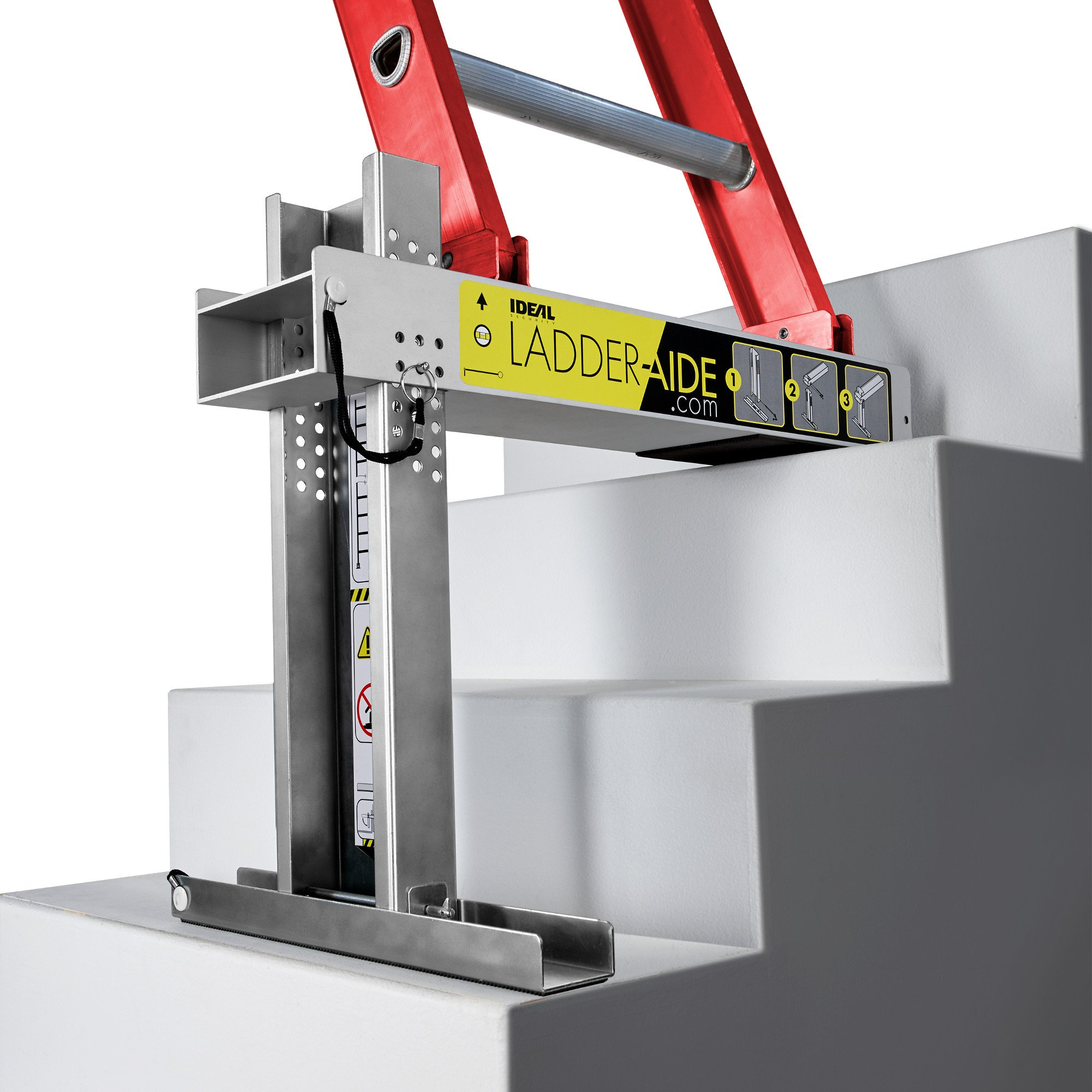 Ideal Security Ladder-Aide, For type 2 ladders, the safe and easy way to work on stairs