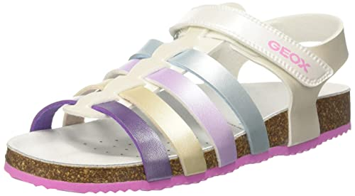 Geox New Sandal Aloha B, Salomés Fille, Bleu (Navy), 29 EU