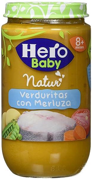 Hero Baby - Verduras Al Vapor Con Merluza 235 gr - Pack de 12 (Total