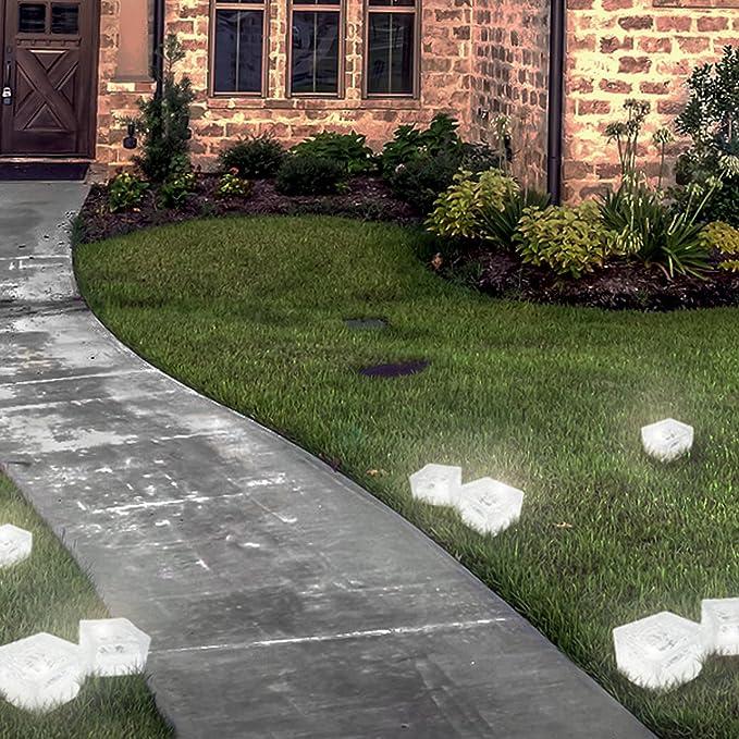Eaxus/® 2er Set LED Solar Glasw/ürfel Solarleuchte Gartenlaterne mit D/ämmerungssensor