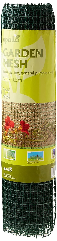 Apollo Gardening - Soporte para plantas trepadoras con red de 5 cm, color verde: Amazon.es: Jardín