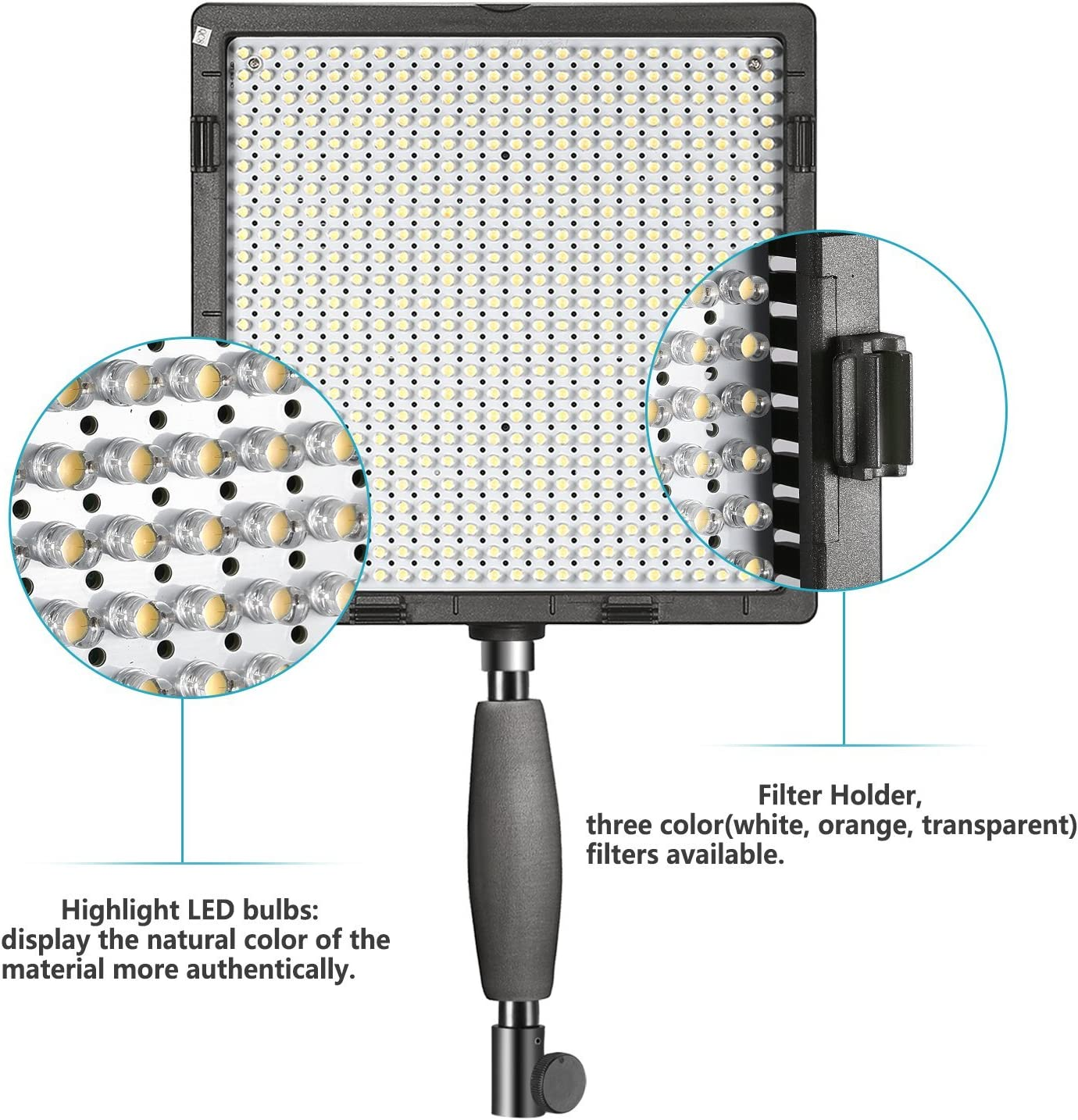 Samsung and Olympus Digital SLR Cameras Sony LED Light 3200K to 5600K for Canon Nikon Panasonic Pentax Neewer/® CN-576 576PCS LED Dimmable Ultra High Power Panel Digital Camera // Camcorder Video Light with 3 Filters