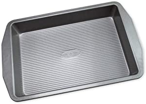 USA Pan 1110RC-3-ABC American Bakeware Classics 9 x 13-Inch Rectangular Lasagna, Cake and Brownie Pan, Aluminized Steel, 9 x 13 Inch