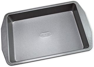 product image for USA Pan American Bakeware Classics 9 x 13-Inch Rectangular Lasagna, Cake and Brownie Pan, Aluminized Steel, 9 x 13 Inch