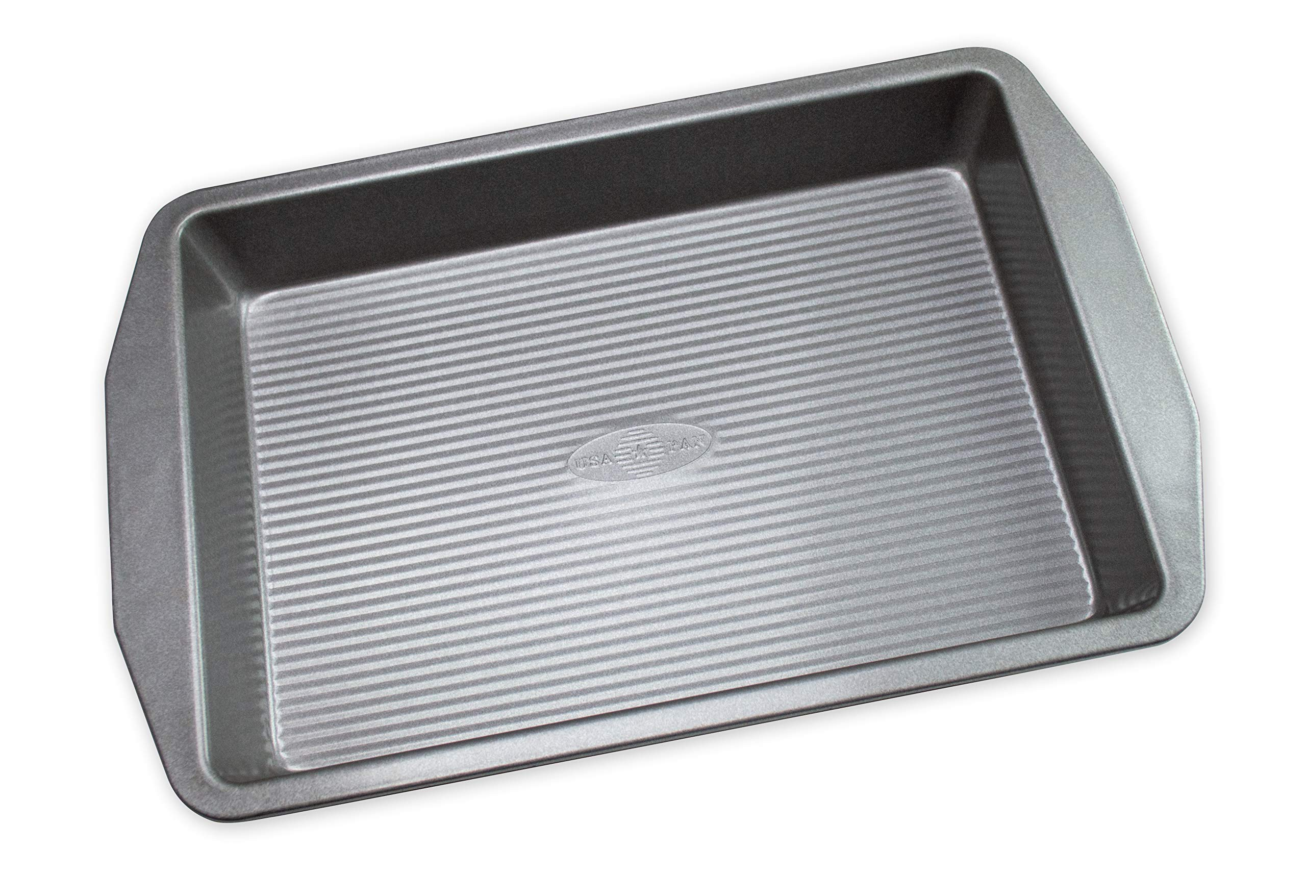 USA Pan 1110RC-3-ABC American Bakeware Classics 9 x 13-Inch Rectangular Lasagna, Cake and Brownie Pan, Aluminized Steel, 9 x 13 Inch by USA Pan