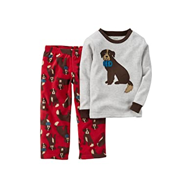 63a333c58 Amazon.com  Carter s Little Boys  2 Piece Thermal Fleece PJs -Dogs ...