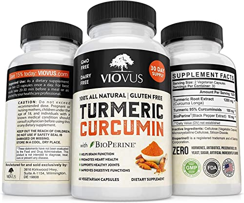 Turmeric with Bioperine Turmeric Pill 1310mg Tumeric Curcumin Supplement Black Pepper