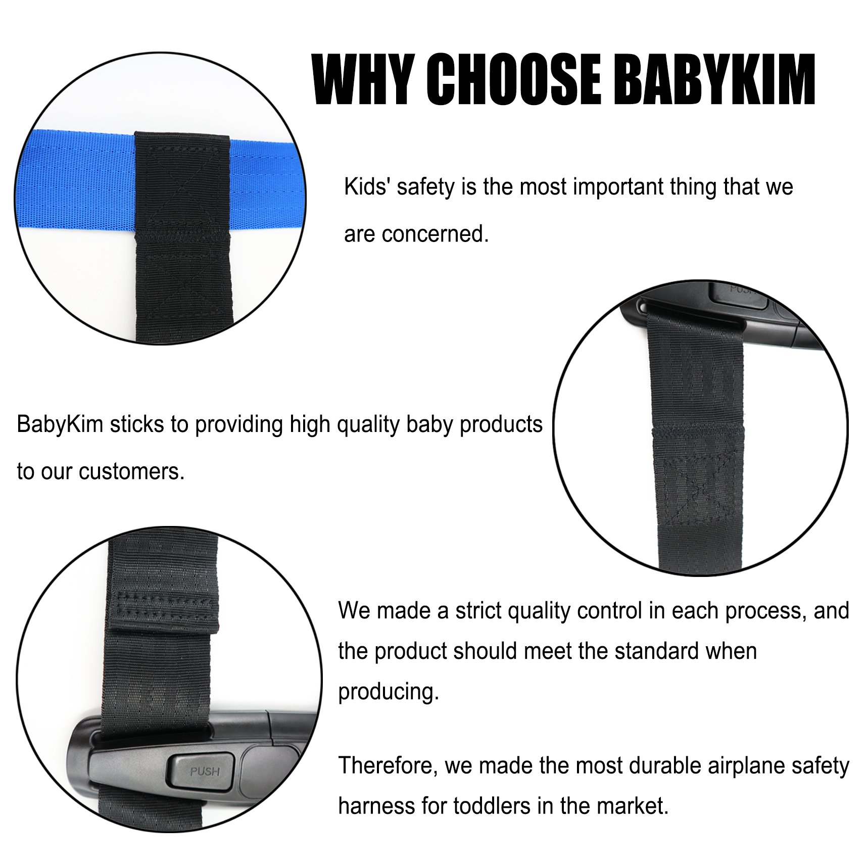 Children Care Harness Safety Airplane Restraint System with Non-Slip Drying Mat For Kids/Toddlers/Children by BabyKim by BabyKim (Image #3)