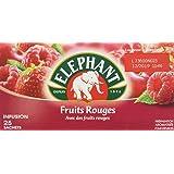 Elephant Infusion Fruits Rouges 25 Sachets 45g Lot de 4
