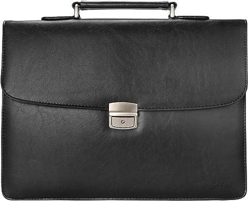 Amazon.com: KB&KD PU Leather Lawyer Briefcase for Men, Messenger Bag Attache Case Business Bag,KK5100 (Black): Shoes