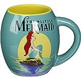 Silver Buffalo DP6944 Disney Princesses Little Mermaid Oval Curved Ceramic Mug, 18-Ounces