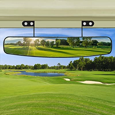 "BETOOLL 16.5"" Wide Rear View Convex Golf Cart Mirror for EZ Go, Club Car, Yamaha: Sports & Outdoors"