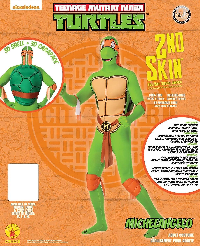Rubies Mens Nickelodeon Teenage Mutant Ninja Turtles 2nd Skin, Green