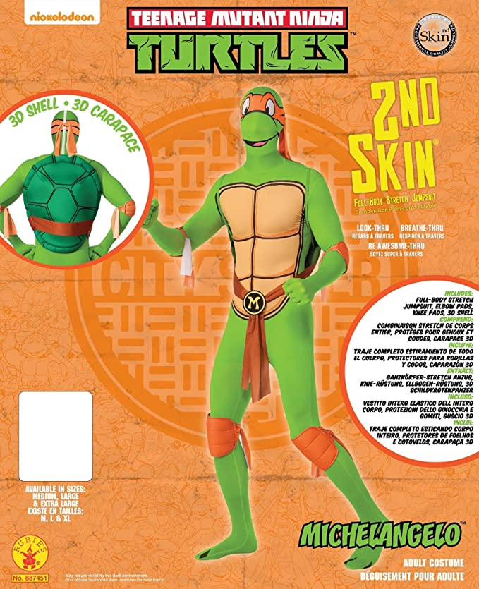 2nd Skin Suit Teenage Mutant Ninja Turtles Michelangelo Adult Costume