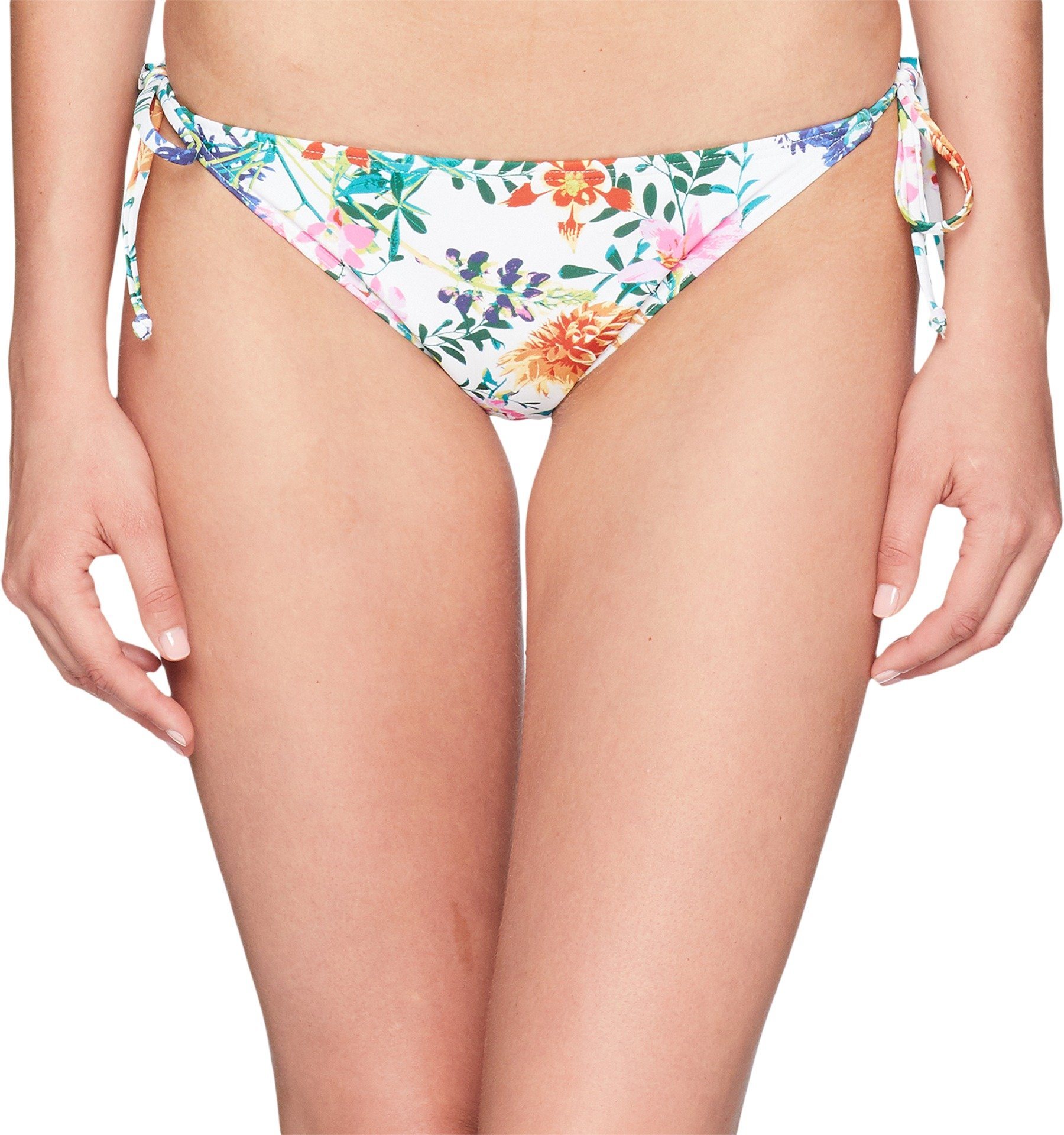 Roxy Junior's Softly Love Tie Side Surfer Bikini Bottom, Bright White Floral Soiree, M